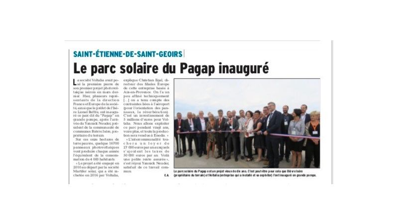 INAUGURATION PARC SOLAIRE