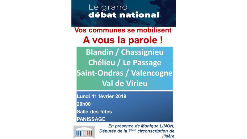 GRAND DEBAT NATIONAL - 11 FEVRIER 2019