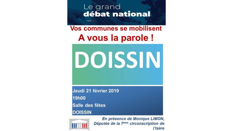 GRAND DEBAT NATIONAL - DOISSIN