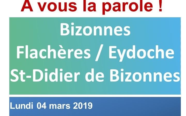 GRAND DEBAT NATIONAL - 04 MARS 2019